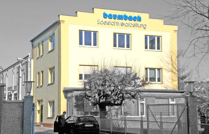Firmengebäude der Baumbach Edelstahlverarbeitungsgesellschaft mbH