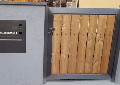 Rahmentür mit Holzeinsatz